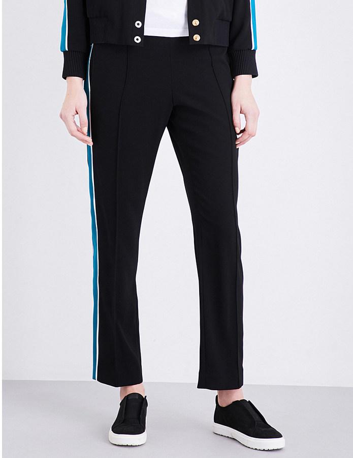 KenzoKenzo Stripe-detail wide mid-rise woven trousers