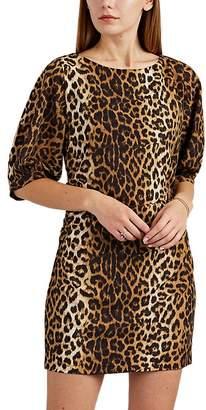 FiveSeventyFive Women's Ruched Leopard-Print Minidress