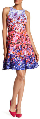 Maggy London Sunset Bloom Fit & Flare Dress $128 thestylecure.com
