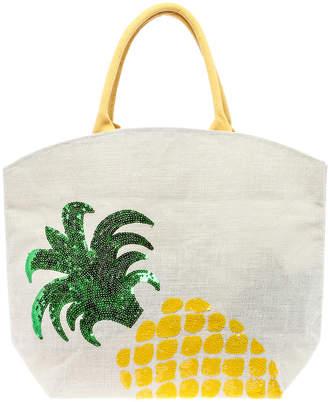 Twos Company Two's Company Pineapple Beach Bag