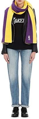 Womens Los Angeles Lakers Cashmere Reversible Scarf The Elder Statesman X NBA Eqa1csk