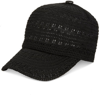 INC International Concepts Crochet Packable Baseball Cap, Only at Macy's $24.50 thestylecure.com