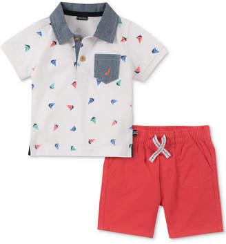 Nautica (ノーティカ) - Nautica Baby Boys 2-Pc. Cotton Printed Polo Shirt & Shorts Set