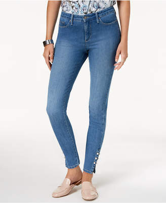 Charter Club Faux-Pearl-Embellished Skinny Jeans, Created for Macy's