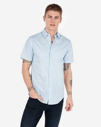 Express Slim Short Sleeve Button Down Dress Shirt