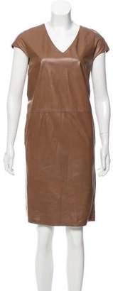 Max Mara 'S Leather Shift Dress