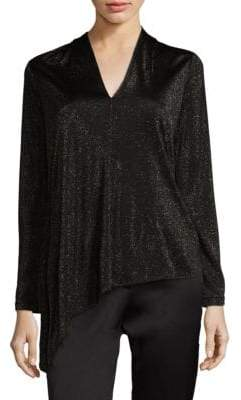 Escada Metallic Asymmetrical Blouse
