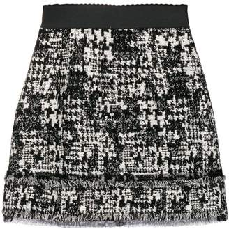 Dolce & Gabbana tweed mini skirt