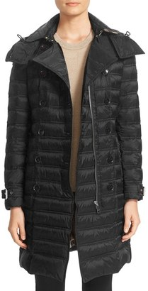 Women's Burberry 'Chesterford' Belted Double Breasted Down Coat $995 thestylecure.com