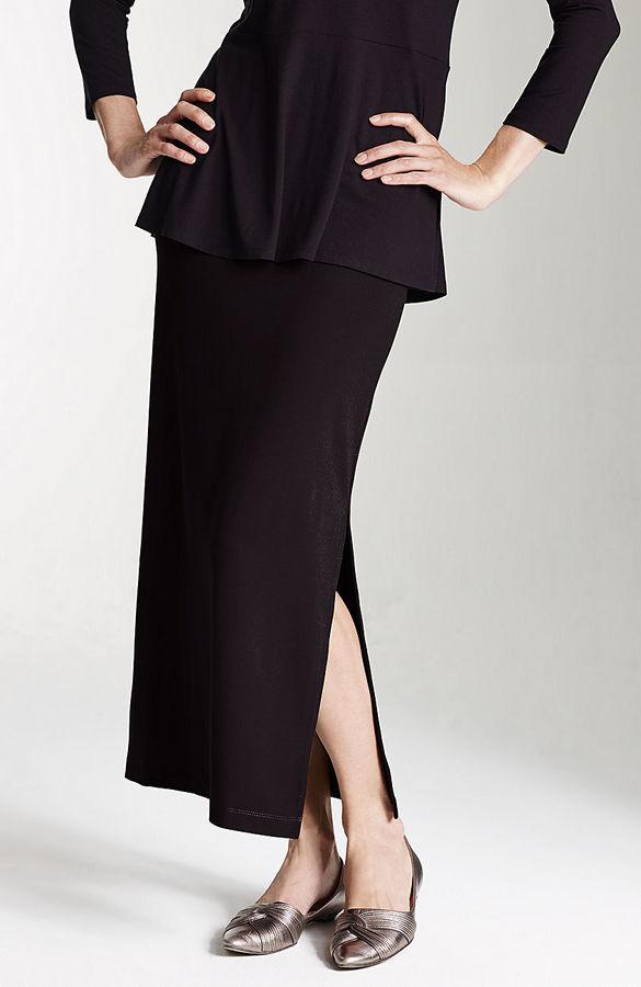 J. Jill Wearever long side-slit skirt