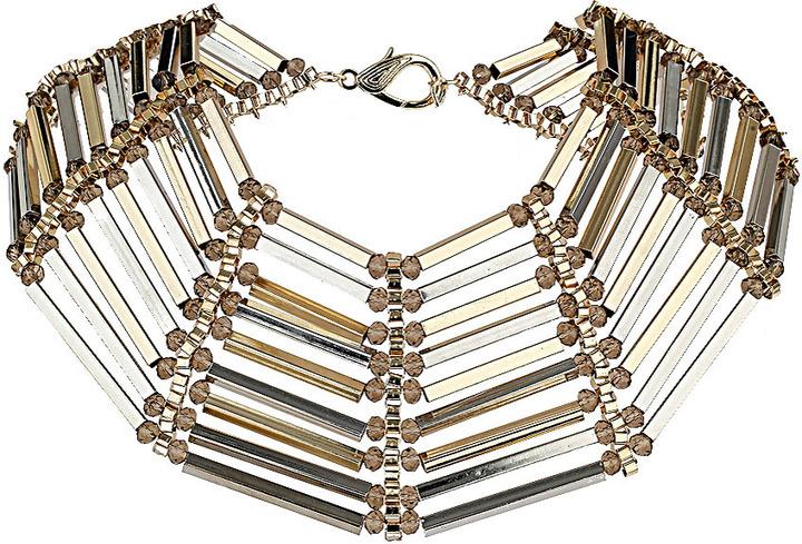 Topshop Premium tube and facet collar