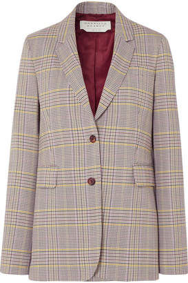 Gabriela Hearst Sophie Plaid Wool-blend Blazer - Gray