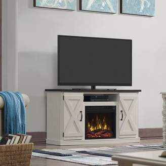 """Laurèl Foundry Modern Farmhouse Serein TV Stand for TVs up to 55"""" with Fireplace"""