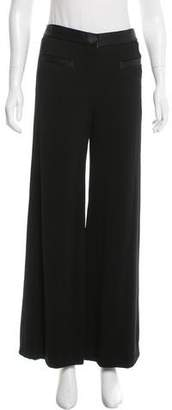 Chanel Satin-Trimmed Wide-Leg Pants