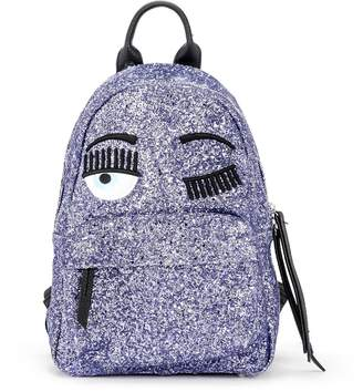 Chiara Ferragni Flirting Purple Glitter Backpack