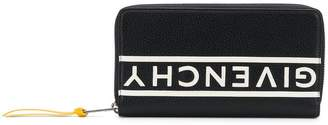 Givenchy mirrored logo zip around wallet