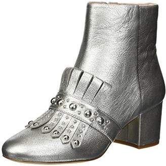 Nine West Women's nwQAMILE Ankle Boots, Silver