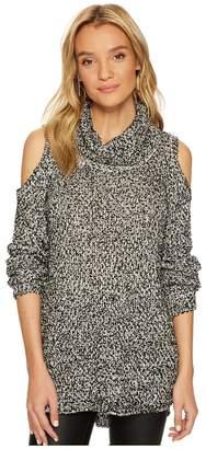 BB Dakota Brodie Lurex Accented Cold-Shoulder Sweater Women's Sweater