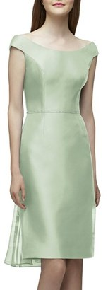 Women's Lela Rose Bridesmaid Embellished Waist Flare Back Dress $220 thestylecure.com