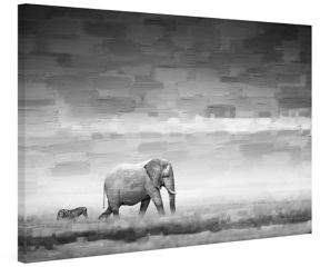 Parvez Taj Elephant Painting Print on Wrapped Canvas