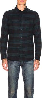 John Elliott Long Sleeve Shirt in Teal & Navy | FWRD