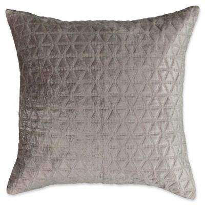 Social Call European Pillow Sham in Grey
