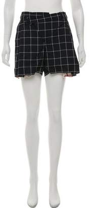 Monse Printed Wool Shorts