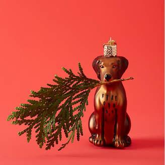 Old World Christmas Chocolate Labrador Ornament - Brown - OLD WORLD CHRISTMAS