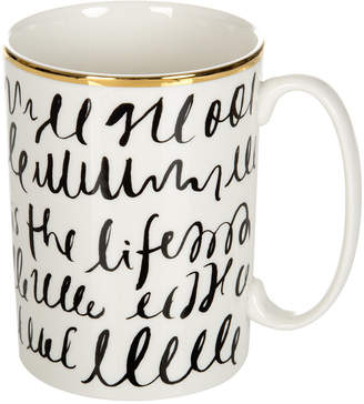 Kate Spade Everdone Lane Black & White Mug - Writing