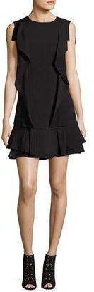 BCBGMAXAZRIA Annemarie Ruffle Flounce Dress, Black $268 thestylecure.com
