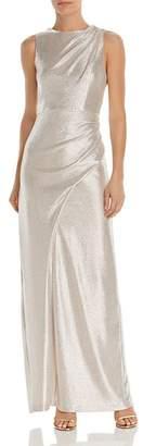 Aidan Mattox Metallic Jersey Gown