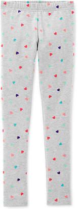 Carter's Little & Big Girls Heart-Print Leggings
