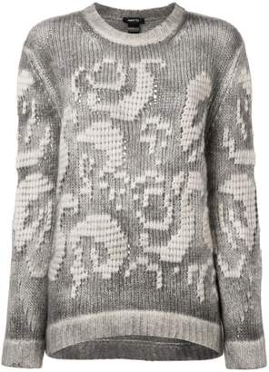 Avant Toi embroidered chunky sweater