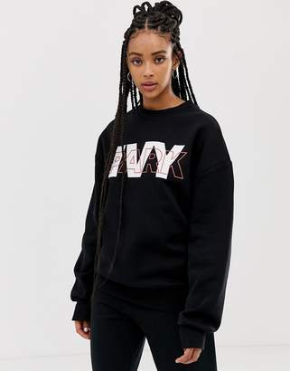 Ivy Park layer logo sweatshirt in black