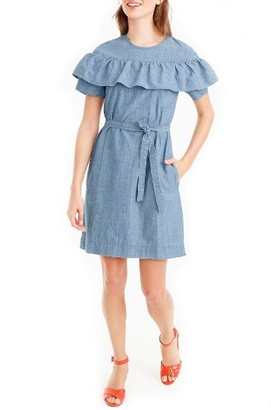 Petite Women's J.crew Edie Chambray Dress $98 thestylecure.com