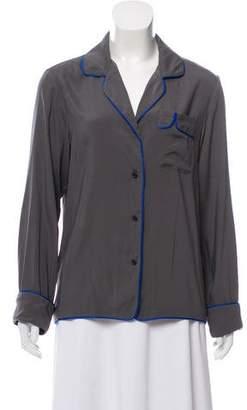 Rag & Bone Silk Contrast Pajama Top