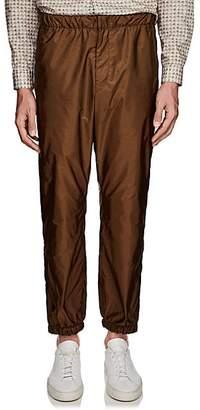 Prada Men's Side-Stripe Nylon Pants - Brown