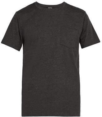 A.P.C. Road Cotton Crew Neck T Shirt - Mens - Grey