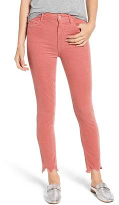 Mother The Looker High Waist Chew Hem Ankle Skinny Jeans
