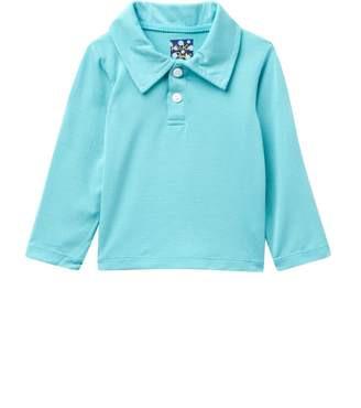Kickee Pants Solid Long Sleeve Polo in Glacier (Baby Boys & Toddler)