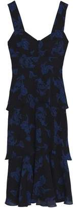 A.L.C. Tiered Printed Silk-Crepe Dress