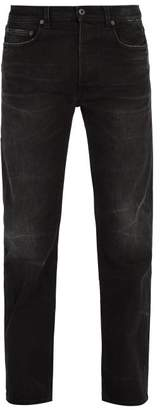Valentino Straight Leg Washed Denim Jeans - Mens - Black
