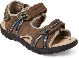 956425b9f9b3 Geox Kids Boys) Brown & Navy Strada Sandals