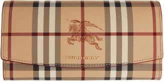 Burberry Pink Halton Haymarket Check Wallet $475 thestylecure.com