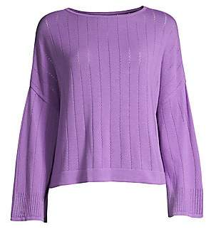 Beatrice. B Women's Pointelle Stitch Knit Pullover