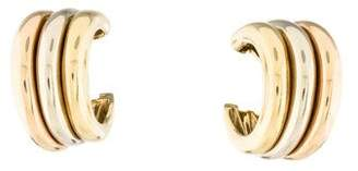 Cartier Large Trinity Tricolor Gold Hoop Earrings