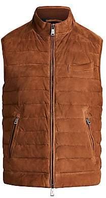 Polo Ralph Lauren Men's Quilted Suede Vest