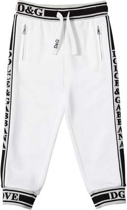 Dolce & Gabbana Logo Bands Cotton Sweatpants