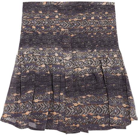 Isabel Marant Printed silk-georgette mini skirt