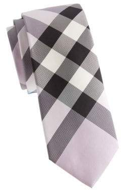 Burberry Exploded Check Mulberry Silk Tie